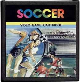Cartridge artwork for Soccer on the Emerson Arcadia 2001.