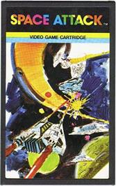 Cartridge artwork for Space Attack on the Emerson Arcadia 2001.
