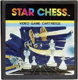 Cartridge artwork for Star Chess on the Emerson Arcadia 2001.