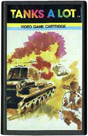 Cartridge artwork for Tanks a Lot on the Emerson Arcadia 2001.
