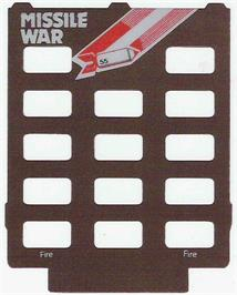 Overlay for Missile War on the Emerson Arcadia 2001.