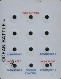 Overlay for Ocean Battle on the Emerson Arcadia 2001.