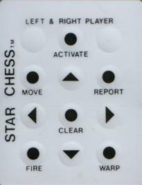 Overlay for Star Chess on the Emerson Arcadia 2001.