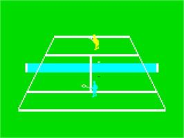 In game image of Grand Slam Tennis on the Emerson Arcadia 2001.