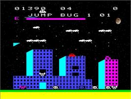 In game image of Jump Bug on the Emerson Arcadia 2001.