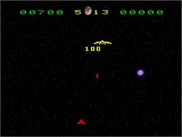 In game image of Pleiades on the Emerson Arcadia 2001.