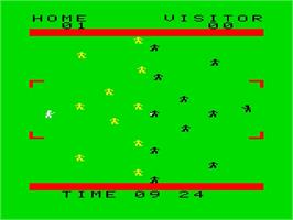 In game image of Soccer on the Emerson Arcadia 2001.