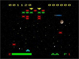 In game image of Space Attack on the Emerson Arcadia 2001.