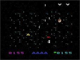 In game image of Space Vultures on the Emerson Arcadia 2001.
