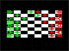 In game image of Star Chess on the Emerson Arcadia 2001.