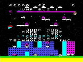 Title screen of Jump Bug on the Emerson Arcadia 2001.