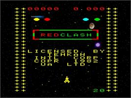 Title screen of Red Clash on the Emerson Arcadia 2001.