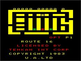 Title screen of Route 16 on the Emerson Arcadia 2001.