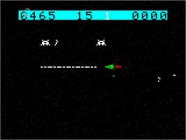 Title screen of Space Raiders on the Emerson Arcadia 2001.