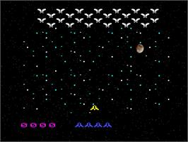 Title screen of Space Vultures on the Emerson Arcadia 2001.