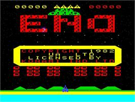 Title screen of The End on the Emerson Arcadia 2001.