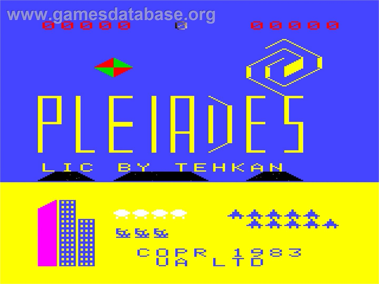 Pleiades - Emerson Arcadia 2001 - Artwork - Title Screen