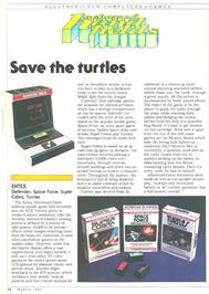Advert for Turtles on the Entex Adventure Vision.