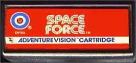 Cartridge artwork for Space Force on the Entex Adventure Vision.