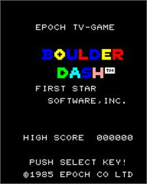 Title screen of Boulder Dash on the Epoch Super Cassette Vision.