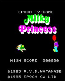 Title screen of Milky Princess on the Epoch Super Cassette Vision.