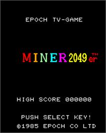 Title screen of Miner 2049er on the Epoch Super Cassette Vision.