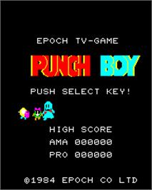Title screen of Punch Boy on the Epoch Super Cassette Vision.