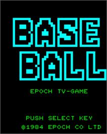 Title screen of Super Baseball on the Epoch Super Cassette Vision.