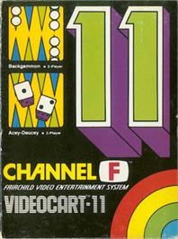 Box cover for Backgammon & Acey-Ducey on the Fairchild Channel F.