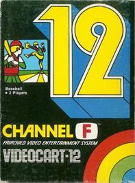 Box cover for Baseball on the Fairchild Channel F.