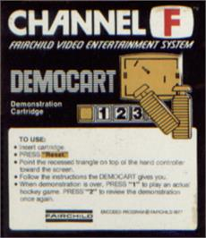 Box cover for Demonstration Cartridge on the Fairchild Channel F.
