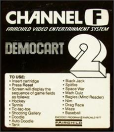 Box cover for Demonstration Cartridge 2 on the Fairchild Channel F.