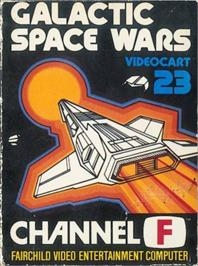 Box cover for Galactic Space Wars & Luna Lander on the Fairchild Channel F.