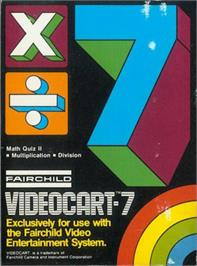 Box cover for Math Quiz II: Multiplication & Division on the Fairchild Channel F.