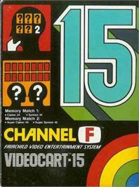 Box cover for Memory Match 1 & 2 on the Fairchild Channel F.