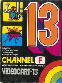 Box cover for Robot War & Torpedo Alley on the Fairchild Channel F.