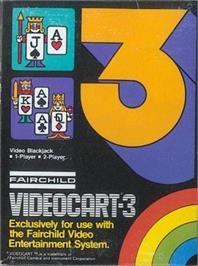 Box cover for Video Blackjack on the Fairchild Channel F.