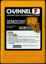 Cartridge artwork for Demonstration Cartridge on the Fairchild Channel F.