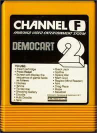 Cartridge artwork for Demonstration Cartridge 2 on the Fairchild Channel F.