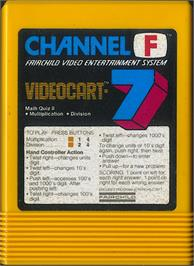 Cartridge artwork for Math Quiz II: Multiplication & Division on the Fairchild Channel F.