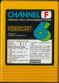 Cartridge artwork for Math Quiz I - Addition & Subtraction on the Fairchild Channel F.