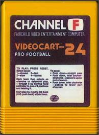 Cartridge artwork for Pro Football on the Fairchild Channel F.