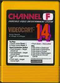Cartridge artwork for Sonar Search on the Fairchild Channel F.