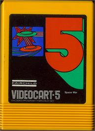 Cartridge artwork for Space War on the Fairchild Channel F.