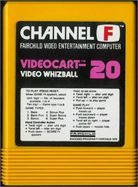 Cartridge artwork for Video Whizball on the Fairchild Channel F.