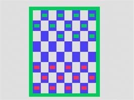In game image of Checkers on the Fairchild Channel F.