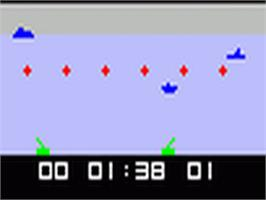 In game image of Robot War & Torpedo Alley on the Fairchild Channel F.