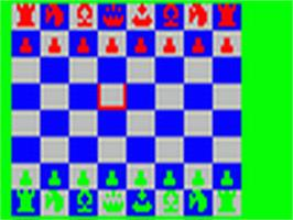 In game image of Schach on the Fairchild Channel F.