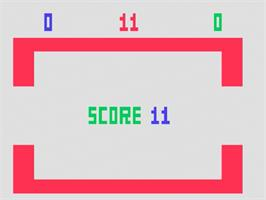 In game image of Video Whizball on the Fairchild Channel F.