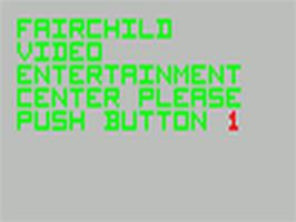 Title screen of Demonstration Cartridge 2 on the Fairchild Channel F.